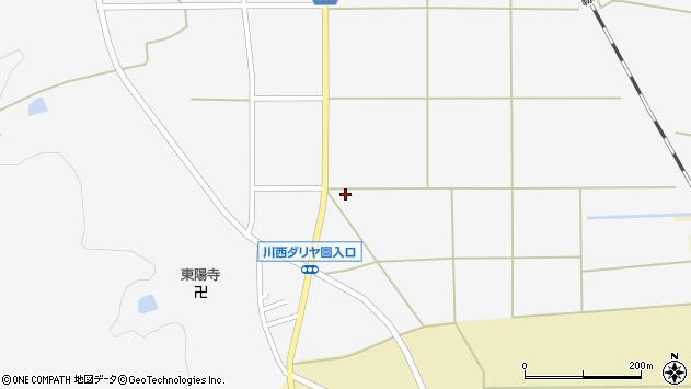 山形県東置賜郡川西町上小松2687周辺の地図