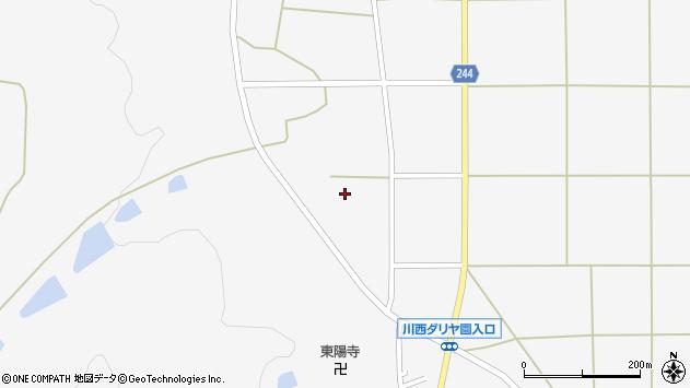 山形県東置賜郡川西町上小松2822周辺の地図