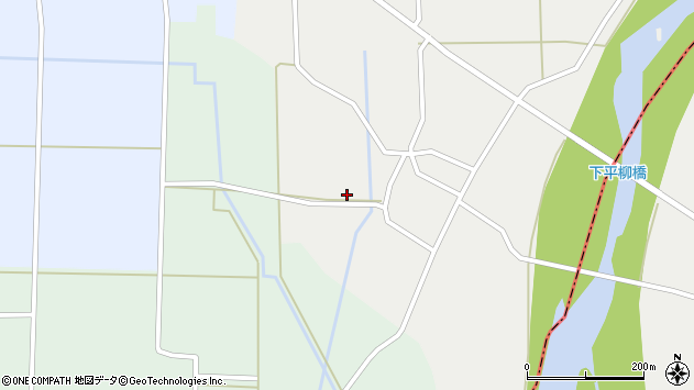 山形県東置賜郡川西町下平柳166周辺の地図