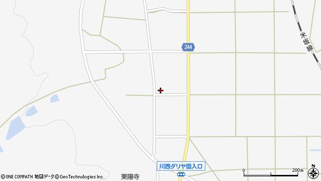 山形県東置賜郡川西町上小松2628周辺の地図
