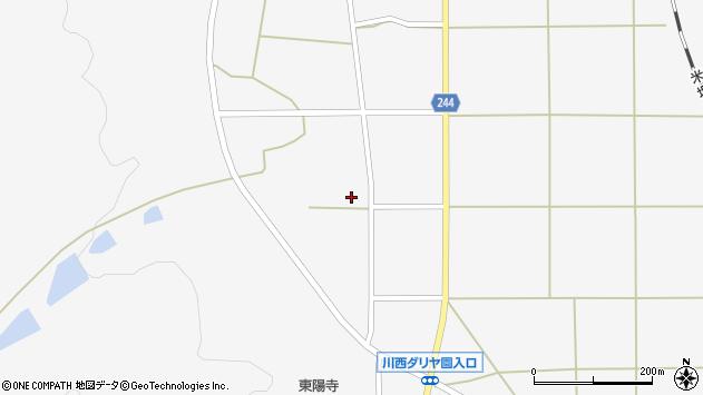 山形県東置賜郡川西町上小松2824周辺の地図