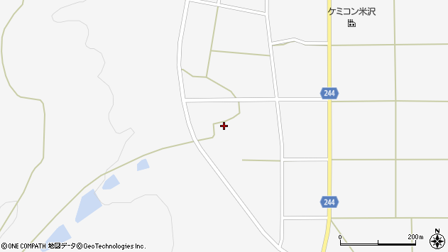 山形県東置賜郡川西町上小松2793周辺の地図