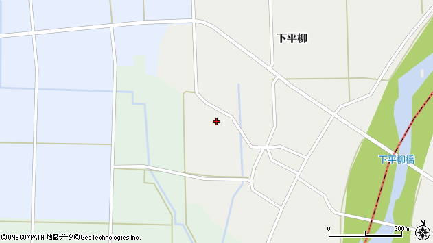 山形県東置賜郡川西町下平柳179周辺の地図