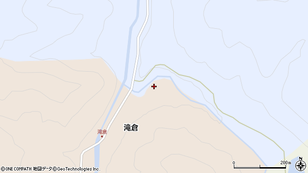 山形県西置賜郡小国町滝倉41周辺の地図