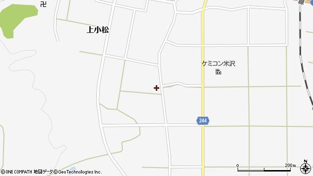 山形県東置賜郡川西町上小松2846周辺の地図