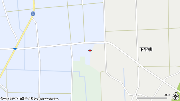 山形県東置賜郡川西町下平柳210周辺の地図