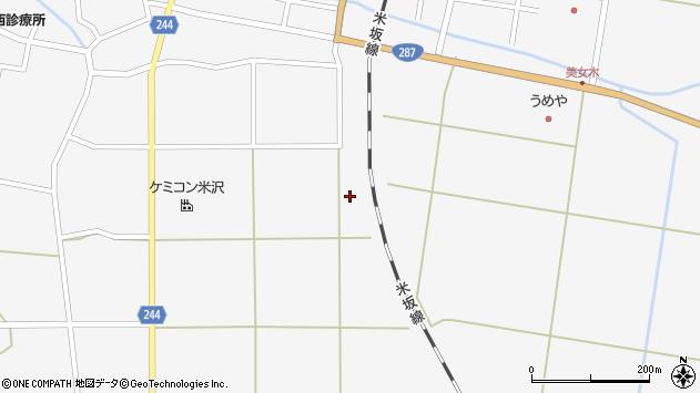 山形県東置賜郡川西町上小松2361周辺の地図