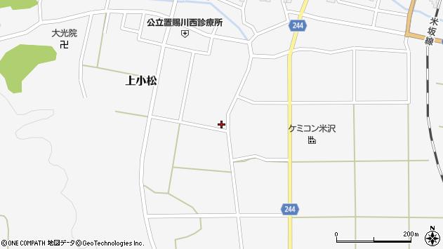 山形県東置賜郡川西町上小松2867周辺の地図
