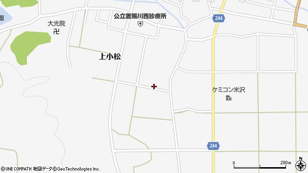 山形県東置賜郡川西町上小松2863周辺の地図