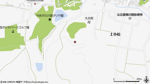 山形県東置賜郡川西町上小松赤御堂周辺の地図