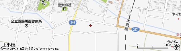 山形県東置賜郡川西町上小松2375周辺の地図