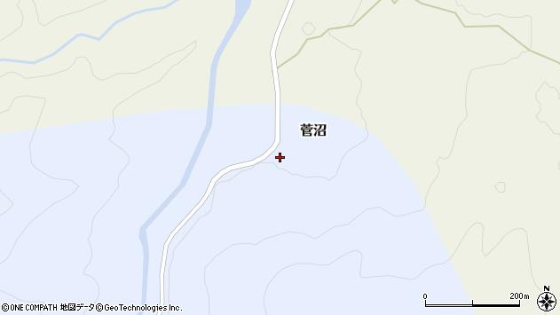 山形県西置賜郡小国町菅沼14周辺の地図