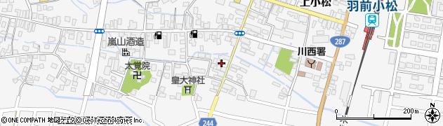 山形県東置賜郡川西町上小松ひげ町周辺の地図
