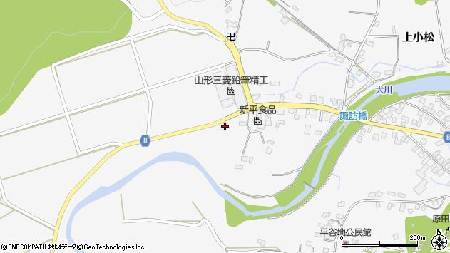 山形県東置賜郡川西町上小松3988周辺の地図