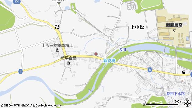 山形県東置賜郡川西町上小松3946周辺の地図