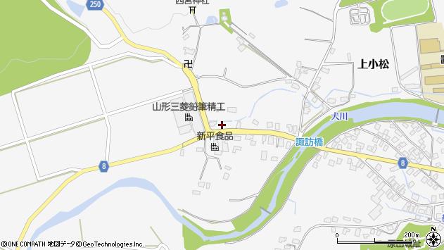 山形県東置賜郡川西町上小松3962周辺の地図