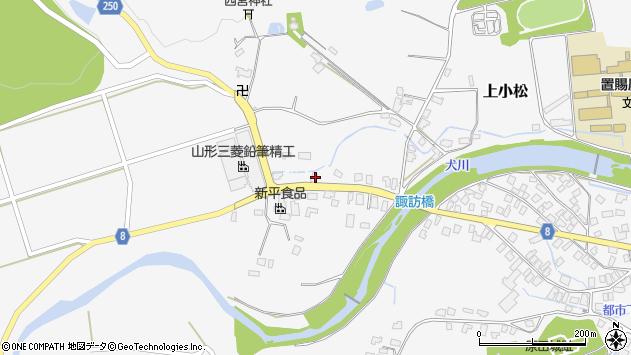 山形県東置賜郡川西町上小松3961周辺の地図