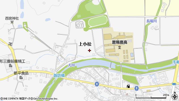 山形県東置賜郡川西町上小松3845周辺の地図