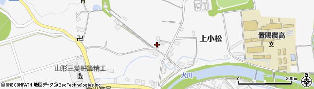 山形県東置賜郡川西町上小松3921周辺の地図