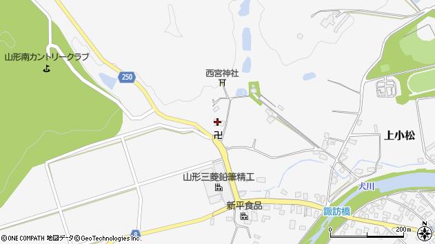 山形県東置賜郡川西町上小松5159周辺の地図