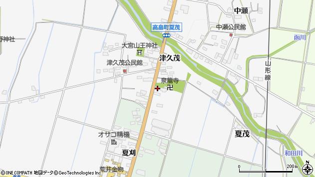 山形県東置賜郡高畠町夏茂周辺の地図