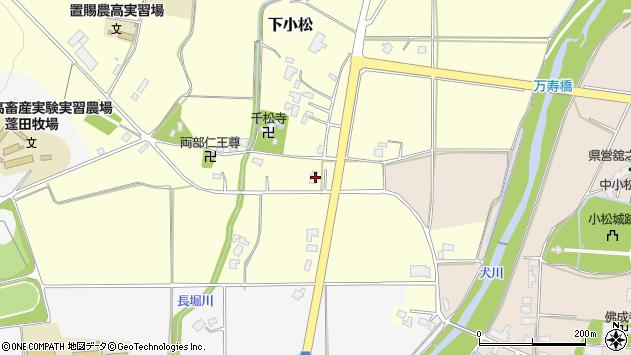 山形県東置賜郡川西町下小松97周辺の地図