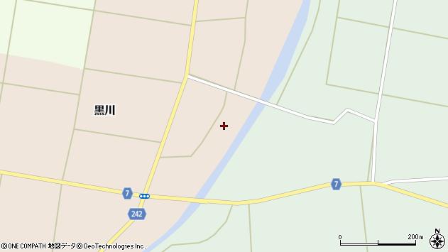 山形県東置賜郡川西町黒川105周辺の地図