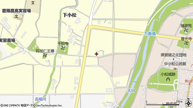 山形県東置賜郡川西町下小松147周辺の地図