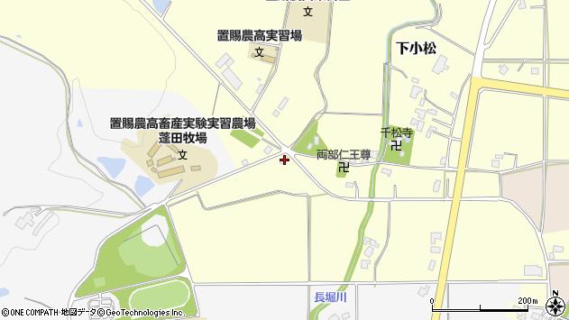 山形県東置賜郡川西町下小松1884周辺の地図
