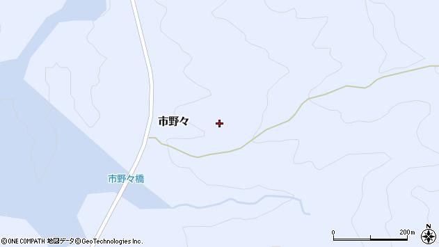 山形県西置賜郡小国町市野々周辺の地図