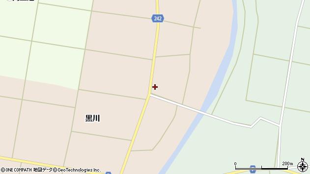 山形県東置賜郡川西町黒川279周辺の地図