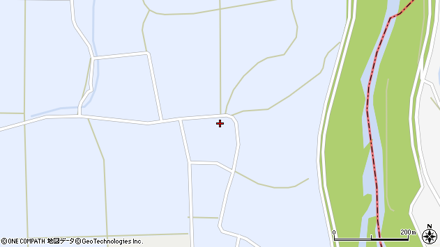 山形県東置賜郡川西町洲島995周辺の地図
