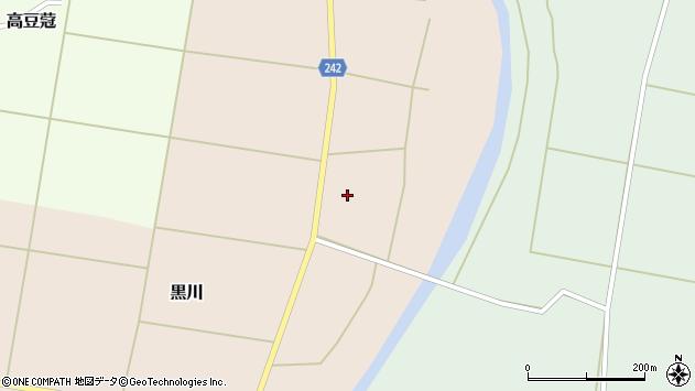 山形県東置賜郡川西町黒川宿周辺の地図