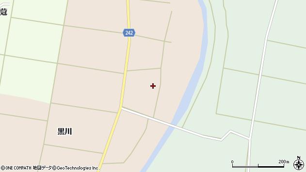 山形県東置賜郡川西町黒川259周辺の地図