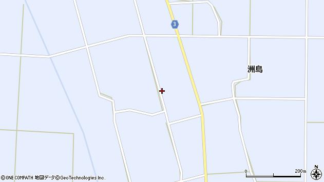 山形県東置賜郡川西町洲島南郷周辺の地図