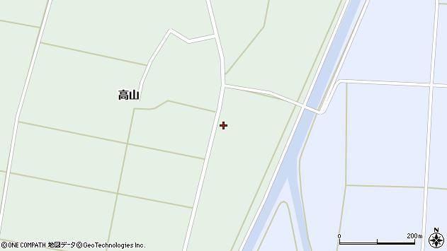 山形県東置賜郡川西町高山1003周辺の地図