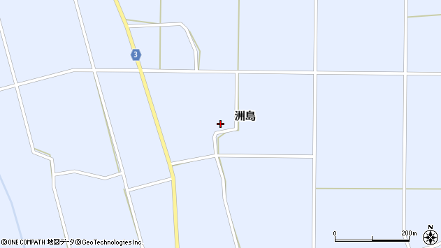 山形県東置賜郡川西町洲島2829周辺の地図