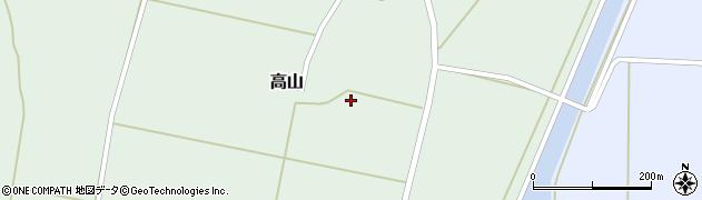 山形県東置賜郡川西町高山1008周辺の地図
