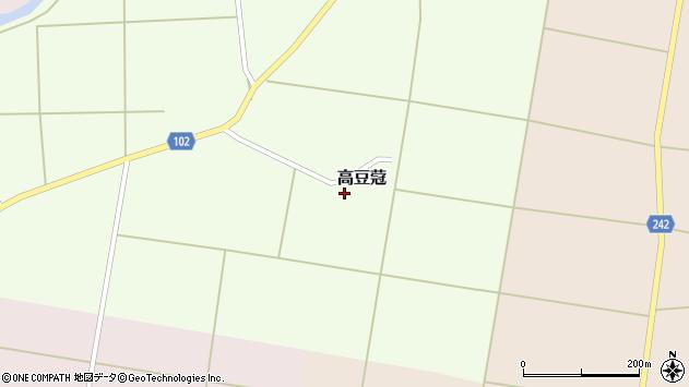 山形県東置賜郡川西町高豆蒄47周辺の地図