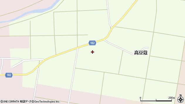 山形県東置賜郡川西町高豆蒄123周辺の地図