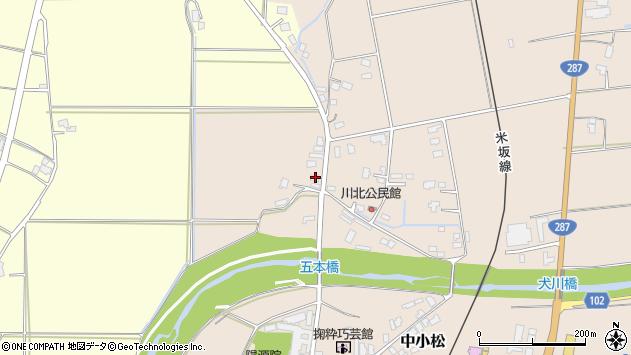 山形県東置賜郡川西町中小松3246周辺の地図