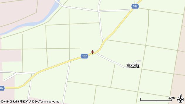 山形県東置賜郡川西町高豆蒄101周辺の地図