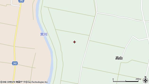 山形県東置賜郡川西町高山1674周辺の地図