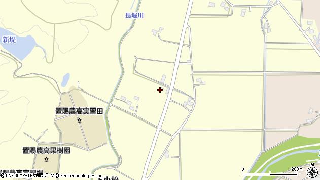山形県東置賜郡川西町下小松317周辺の地図