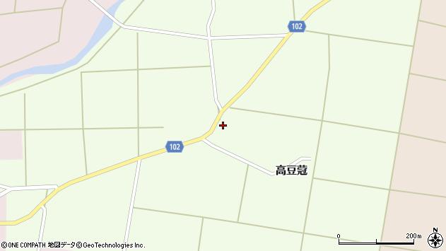 山形県東置賜郡川西町高豆蒄151周辺の地図