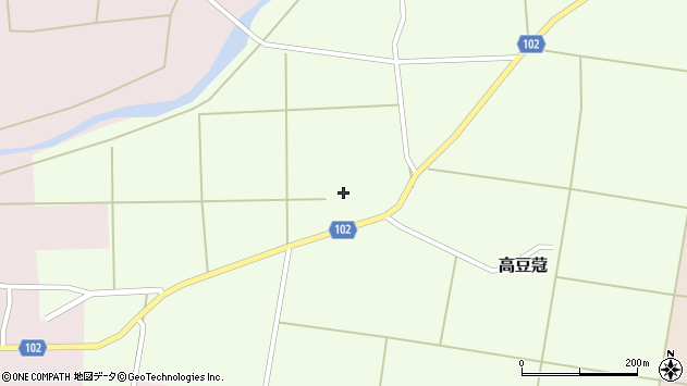山形県東置賜郡川西町高豆蒄283周辺の地図