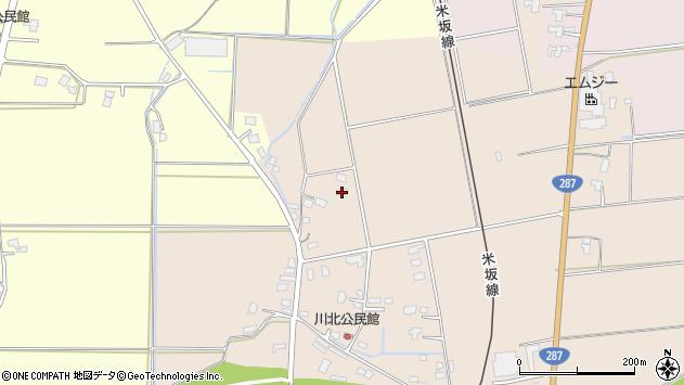 山形県東置賜郡川西町中小松3293周辺の地図