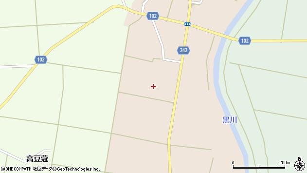 山形県東置賜郡川西町黒川下黒川周辺の地図