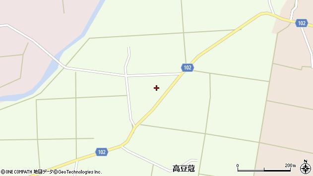山形県東置賜郡川西町高豆蒄316周辺の地図