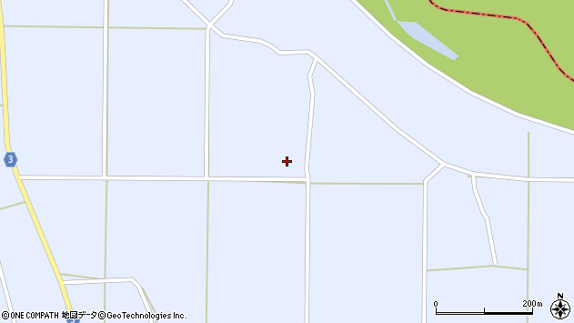 山形県東置賜郡川西町洲島東郷周辺の地図